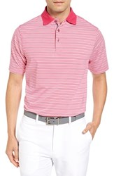 Bobby Jones Men's Cabana Stripe Stripe Polo Persian Pink
