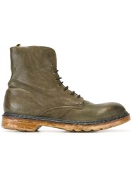 Officine Creative 'Krivine' Lace Up Boots Green