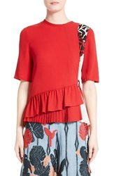 Yigal Azrouel Women's Silk Peplum Top