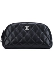 Chanel Vintage Quilted Cosmetic Pouch Black