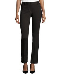 Neiman Marcus Textured Stretch Woven Pants Black Brown
