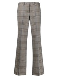Cambio Plaid Tailored Trousers Neutrals