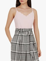 Ted Baker Siina Scallop Neckline Camisole Top Nude Pink