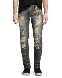 Robin's Jeans Distressed Skinny Gray
