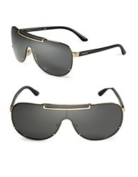Versace Ve2140 40Mm Modified Aviator Sunglasses Black
