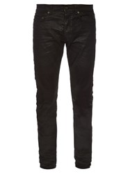 Saint Laurent Waxed Skinny Jeans