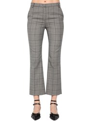 Red Valentino Wool Prince Of Wales Pants Grey