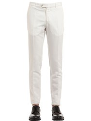 Ettore Bugatti Collection Straight Cotton And Linen Blend Pants
