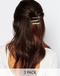 Orelia Simple Metal Hair Slide Multipack Multi