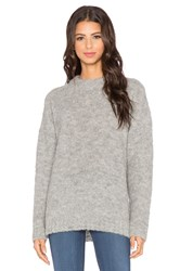 Tibi Oversized Long Sleeve Pullover Gray