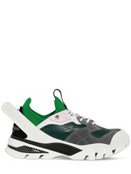 Calvin Klein 205W39nyc Carlos 10 Leather And Neoprene Sneakers Multicolor