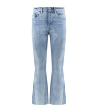 Helmut Lang High Rise Crop Jeans Female Blue