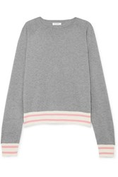 Equipment Axel Striped Cotton Blend Sweater Gray