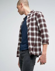Allsaints Checked Shirt In Slim Fit Red Check