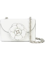 Oscar De La Renta Tro Crossbody Bag White