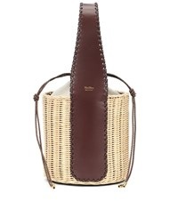 Max Mara Aisha Straw Basket Bag Brown