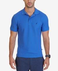 Nautica Men's Slim Fit Performance Deck Polo Frenchblue