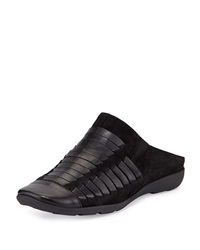 Gordana Woven Leather Mule Black Sesto Meucci