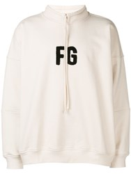 Fear Of God Initials Patch Hoodie White