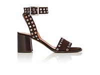 Derek Lam Women's Jacqui Embellished Suede Sandals Dark Brown