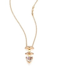 Phyne By Paige Novick Olivia Diamond Moonstone And 14K Yellow Gold Pendant Necklace