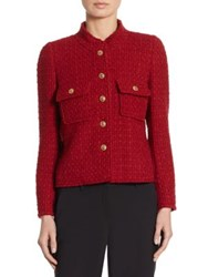 Edward Achour Wool And Mohair Jacket Red