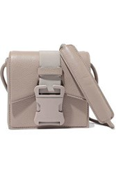 Christopher Kane Bonnie Pebbled Leather Shoulder Bag Mushroom