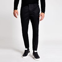 River Island Black Skinny Smart Chino Trousers