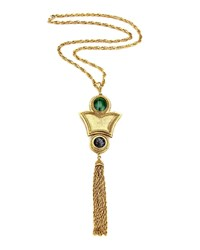 Ben Amun Stone And Tassel Necklace Gold