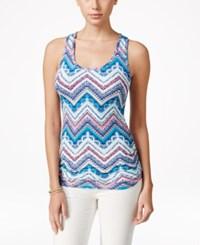 Planet Gold Junior's Striped Racerback Tank Top Spring Cream