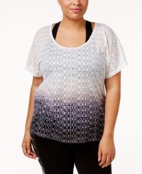 Material Girl Active Plus Size Ombre Burnout T Shirt Only At Macy's Noir