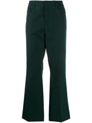 Acne Studios Cropped Trousers Green