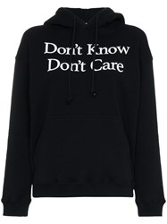 Ashley Williams Don't Know Don't Care Cotton Hoodie Black