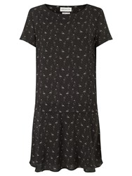 Harris Wilson Noah Flamingo Print Dress Grey
