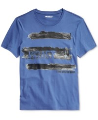 William Rast Men's Graphic Print T Shirt Bright Blue