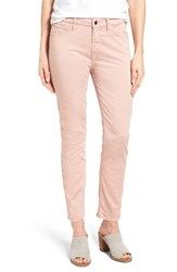 Jen7 Women's Colored Stretch Ankle Skinny Jeans Pink Rose