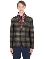 Bob Strollers Plaid Wool Jersey Blend Jacket