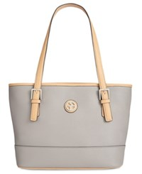 Giani Bernini Saffiano Tote Light Grey