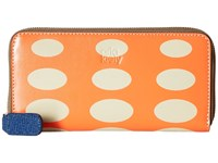 Orla Kiely Oval Printed Big Zip Wallet Orange Wallet Handbags