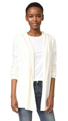 Tse Cashmere Long Sleeve Hooded Cardigan Creme