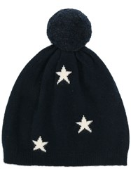 Chinti And Parker Stars Knitted Beanie Blue