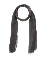 Gianfranco Ferre' Accessories Oblong Scarves Men Steel Grey