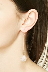 Forever 21 Iridescent Globe Drop Earrings Gold Pink