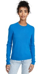 Bop Basics Cashmere Boxy Crew Sweater Royal Blue