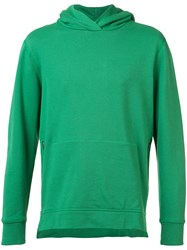 John Elliott Zipped Side Pockets Hoodie Green