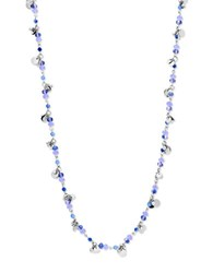 Lonna And Lilly Cubic Zirconia Lobster Clasp Necklace Blue