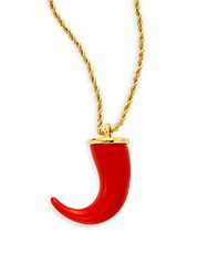 Kenneth Jay Lane Couture Collection Chili Pepper Pendant Necklace Gold