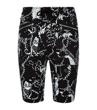 Markus Lupfer Cartoon Animal Sweat Shorts Male Black