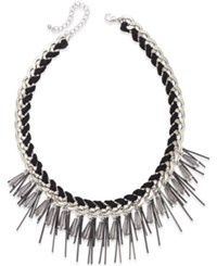 Bar Iii Silver Tone Sticks And Corded Chain Necklace Only At Macy's