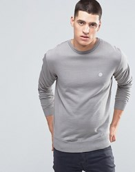 Pretty Green Jumper With Crew Neck In Slim Fit Grey Ltgrey